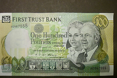 "1994 FIRST TRUST BANK RARE £100 ONE HUNDRED POUNDS NOTE ""a/UNC"" ? E.F. Mc Elroy"