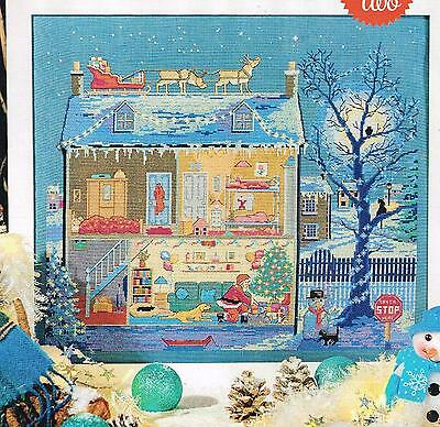 DEB LESTER CHRISTMAS CUT THROUGH HOUSE PART 1 AND PART 2 CHART ONLY xmas3