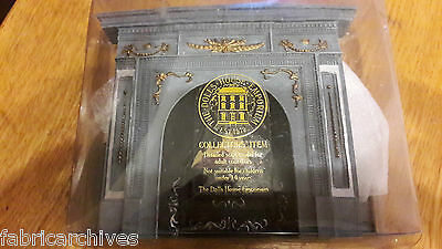 Dolls Housed Emporium Large Grey Gold Fireplace with Hearth 1/12 new in box