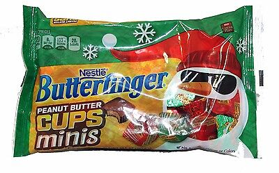 BUTTERFINGER 10.5 oz Bag MINIS Peanut Butter Cups HOLIDAY Chocolate Candy x7/17