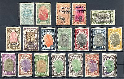Ethiopia  1917/1930  Incl. Ovp   19 St.   Most */0   Most Vf