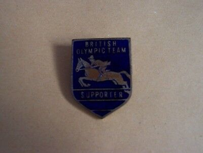 Olympic Games Equestrian pin badge W.O.Lewis