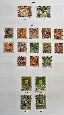 China - Page of 19 x  F/Used Pre-1936 Stamps