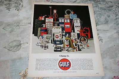 """Vintage 1963 Gulf """"gulf Products Charge It"""" Print Ad"""