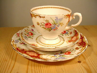 "Tuscan China ""Windsor"" Red Trio"