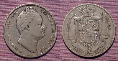 1837 KING WILLIAM IV HALFCROWN - Key Date Coin