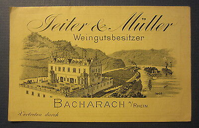Old Antique c.1902 JEITER & MULLER Bacharch Germany WINE CELLARS Price Booklet