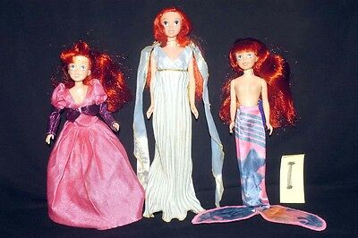 Vintage Little Mermaid Includes Princess Bubble + Mermaids In Dress & Fish Tail