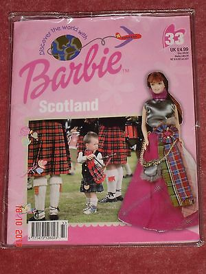 New in packaging. Discover the World with Barbie Scotland - magazine & outfit
