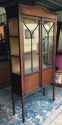 Lovely Antique Edwardian Inlaid Display Cabinet