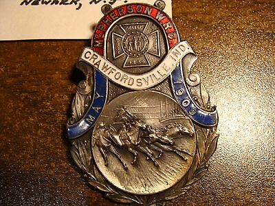 Crawfordsville, IN Relief Corps Pin, 1909 !