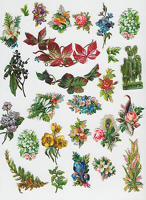 130+ Lovely Embossed Victorian Scraps Flowers and Leaves