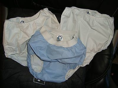 GERBER 3 PACK PULL-ON VINYL DIAPER PANTS SIZE TODDLER up to 32 pounds Waterproof