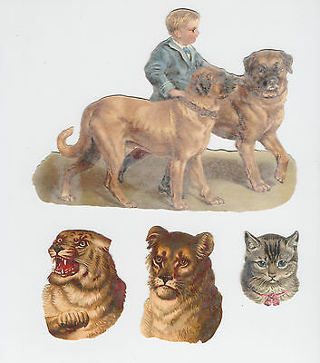 60 Lovely Embossed Victorian Scraps Animals