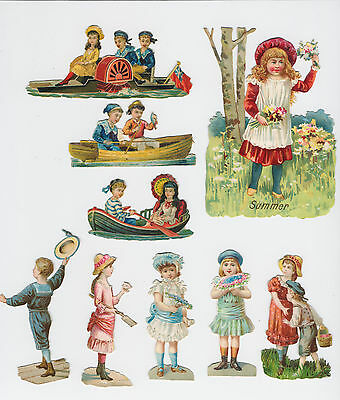 100+ Lovely Embossed Victorian Scraps People Children Costumes