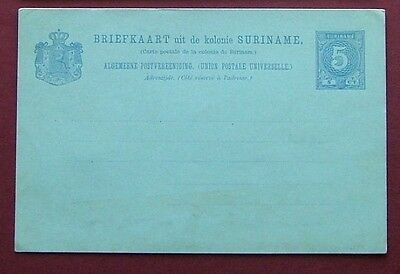SURINAME c.1900 - POSTAL STATIONERY UNUSED POSTCARD (5c) VG CONDITION