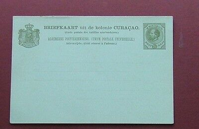 CURACAO 1873 - POSTAL STATIONERY UNUSED POSTCARD (7.5c)- VG CONDITION