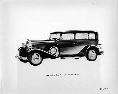 1932 Dodge Six Five Passenger Sedan ORIGINAL Factory Photo oad3177-JPGYBV
