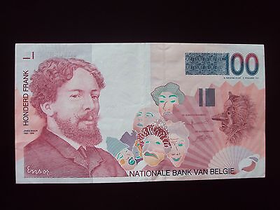 Belgium 100 Francs Nd Xf Banknote