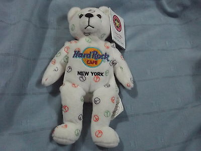 Limited Edition Herrington Teddy Bear - Hard Rock Cafe - New York - Peace Symbol
