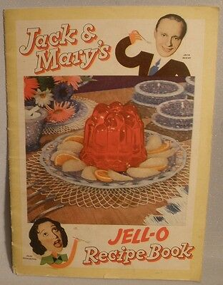 Jell-O Recipe Book with Jack Benny and Mary Livingstone