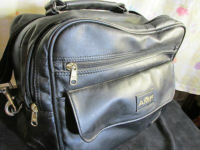 Vintage AMF Soft Leather Bowling Ball Carrying Case Bag
