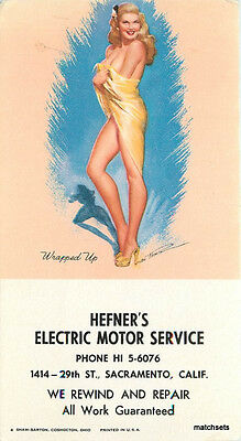 Sexy blonde pin up Wrapped up Hefner's Sacramento California blotter 8544