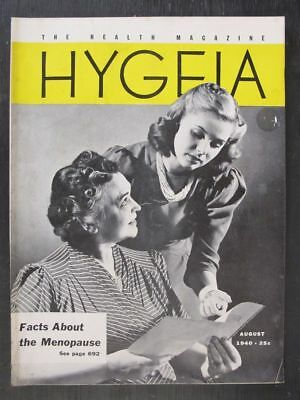 Hygeia Magazine August 1940 Facts About Menopause