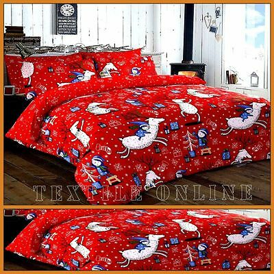 Christmas Duvet Cover with Pillow Case Quilt Cover Bedding Set SPIRIT (Double)