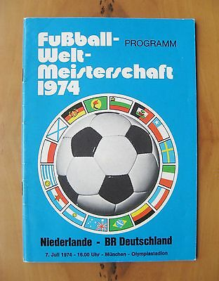 1974 World Cup Final NETHERLANDS HOLLAND v WEST GERMANY *VG Condition Programme*