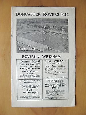 DONCASTER ROVERS v WREXHAM 1946/1947 Good Condition Xmas Day Football Programme