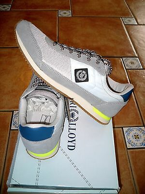 100%auth * Henri Lloyd * Suede/mesh/quilt Serpent Trainers* Uk 8 Boxed Xmas Gift