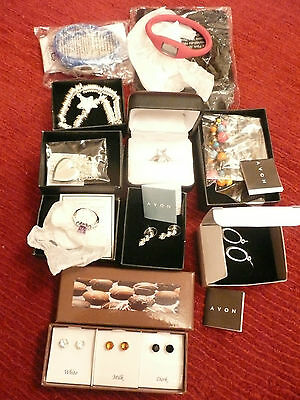 AVON JEWELLERY PACKAGE inc NECKLACE, WATCHES, RINGS & EARRINGS **NEW**  RRP £50+