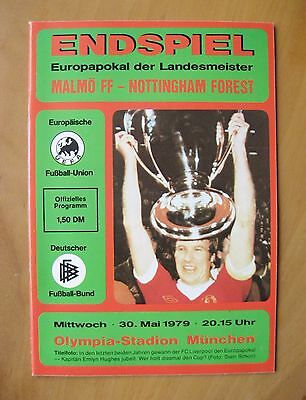 1979 European Cup Final MALMO v NOTTINGHAM FOREST *Red Version In Exc Condition*
