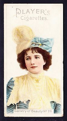 John Player GALLERY OF BEAUTY SERIES 1896 #26 *Good Condition*