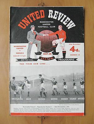 MANCHESTER UNITED v CHELSEA 1957/1958 Munich Season Programme In Good Condition