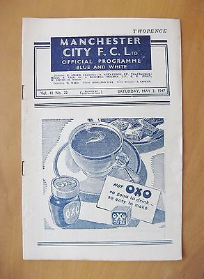 MANCHESTER CITY v NEWCASTLE UNITED 1946/1947 *Exc Condition Football Programme*