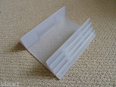 SONY PLAYSTATION 2 PS2 VERTICAL CONSOLE STAND UPRIGHT HOLDER - Clear