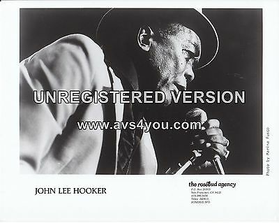"John Lee Hooker 10"" x 8"" Photograph no 1"
