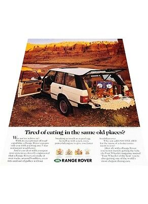 1989 Range Rover - Canyon picnic scene - Vintage Advertisement Car Print Ad J401