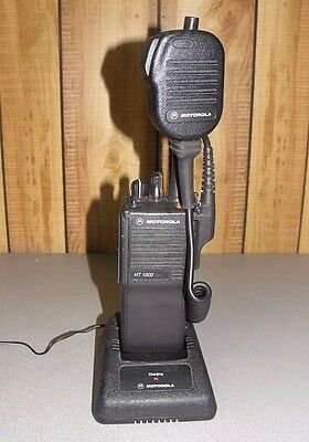 Motorola HT1000 VHF Radio H01KDC9AA3DN with Charger Microphone FREE Programming