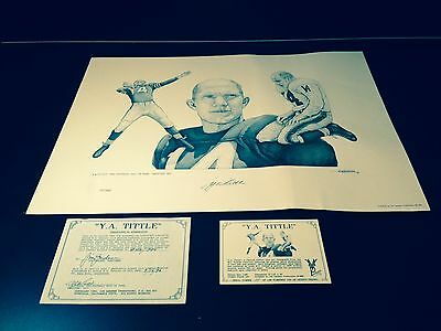 """Y.A. Tittle Autographed Limited Edition Litho 18X24""""- With COA- Rare!!!"""