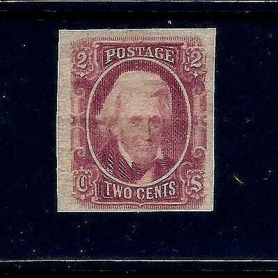Confederate States of America, MINT-OG-VLH CSA #8 Brown-Red, 4-Margined Example