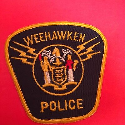 Weehawken New Jersey Police Shoulder   Patch Old