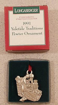 Longaberger 1991 Yuletide Traditions Pewter Ornament
