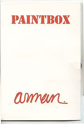 Old 1970 Artist Advertising Card w/Slide Paintbox by Arman