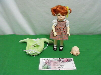 """Kimberly Lasher """"sweet Pea"""" Bjd 8"""" Doll Limited Edition 150 2 Faces 2 Outfits"""