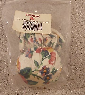 Longaberger GARDEN SPLENDOR POTPOURRI SACHET BAG new 209581