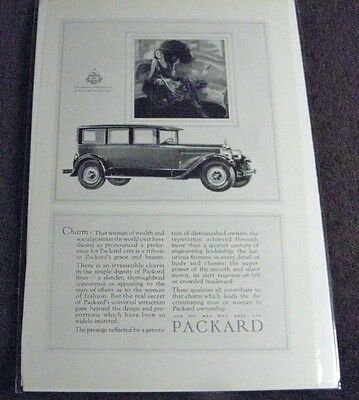 Vintage 1927 Packard Automobile Magazine Advertisement Us Made & Also Boarded