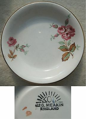 J & G MEAKIN 'ROSES' PIN DISH or BUTTER PAT - VINTAGE - LOOK!